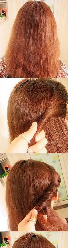 zakręcona fryzura