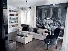 biało-czarny salon