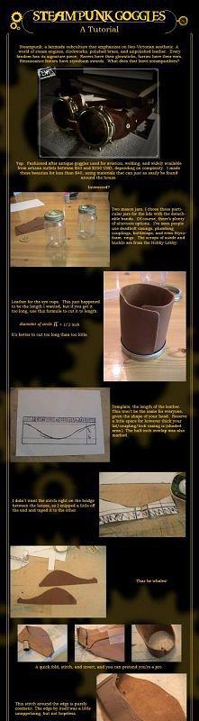 DIY steampunk google jak Lady Gaga;)