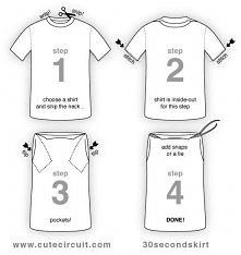 DIY spódniczka z koszulki