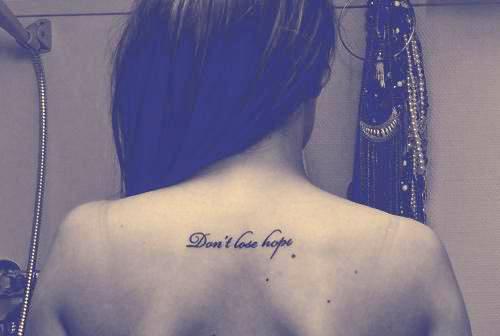 Dont Lose Hope Na Tatuaż Zszywkapl