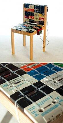kasetowe krzesło recycling