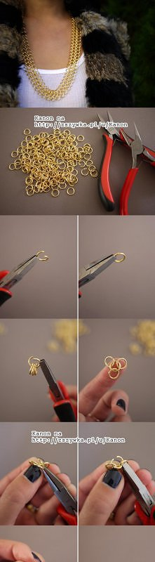 DIY, handmade, pomysły. Naszyjnik