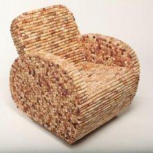 Fotel z korków