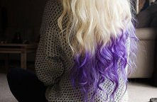 kolorowe końcówki najlepiej wychodzą na jasnym blondzie <3