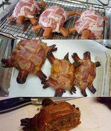 bekonowo parówkowe żółwie