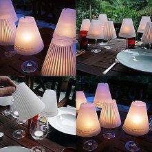 Lampiony z kieliszków ;)