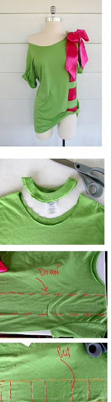 bluzeczka z kokarda