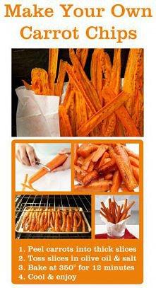 Chipsy z marchewki :)