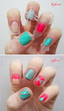 tape nails