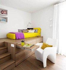 Podest - sposób na zaoszczędzenie miejsca w pokoju :)