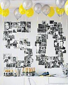 Balony + zdjęcia na ścianie