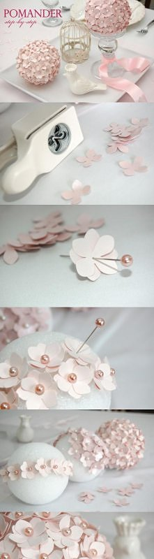 Pretty way to use up all those little pre-cut flowers