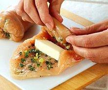 Boneless chicken rolls stuffed with mozzerella and a garlic/onion mixture