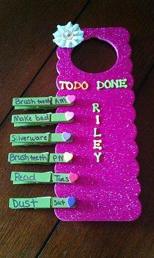 Tablica zadań dla dziecka ;)