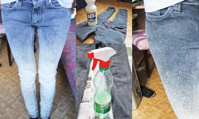 znaleziony w internecie świetny sposób na zrobienie oryginalnych jeansów :)