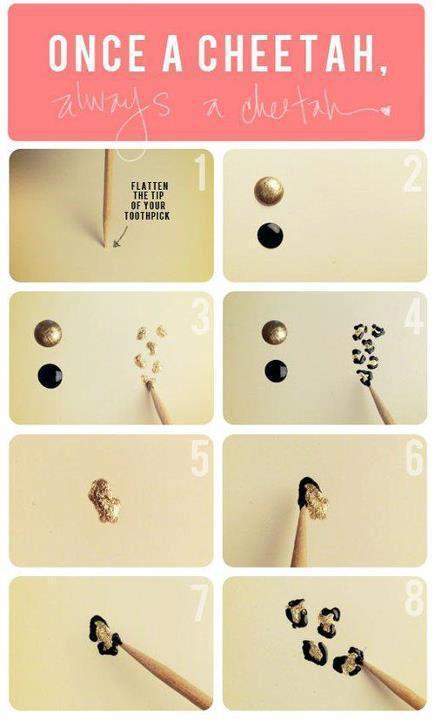 jak zrobić panterke na paznokcie