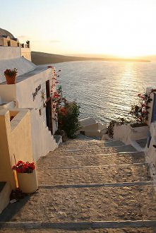 Steps to the Sea, Santorini, Greece