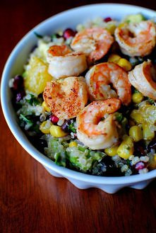 Quinoa and Shrimp Salad w/ Lemon Vinaigrette.