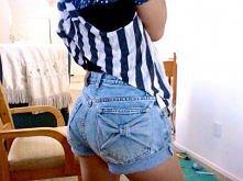 kokardy na kieszeniach od spodni