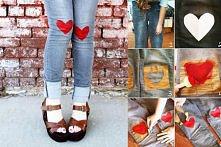 spodnie serce