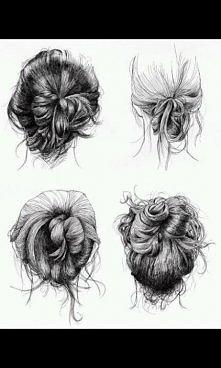 Rysunki. Hairstyles.