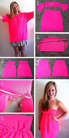 Jak zrobić sukienkę z koszulki