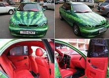 samochód arbuz :D haha ;)