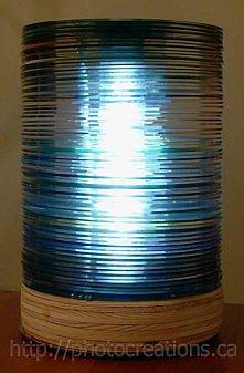 lampa z płyt CD