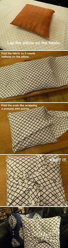 dobry sposób na ubranie poduszki