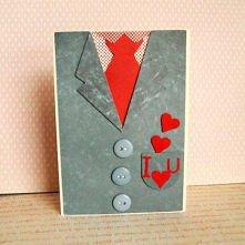 Nietypowa kartka na Walentynki - rezerwacja (proj. Z Papieru Tworzone)