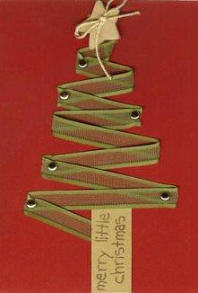 Kartka świąteczna (choinka)