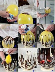 Czekoladowy koszyk na owoce
