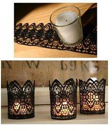 Koronkowe świeczniki.