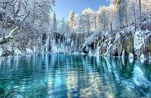 Park Jezior Plitwickich zimą