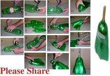 jak zrobić miotłę z plastik...