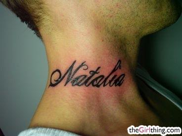 Tatuaż Na Szyi No Chyba Kogoś Poszarpało Na Miłość