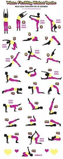 super ćwiczenia na gibkość i trochę na wypracowanie mięśni brzucha:) w skroci...