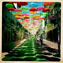 Summer Umbrellas in Águeda, Portugal