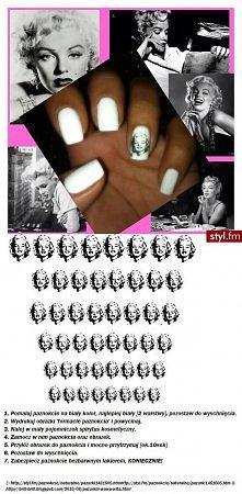 Monroe na paznokciach ;d