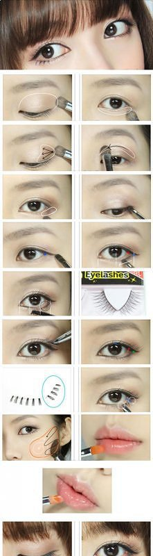 Japoński makijaż powiększający oczy