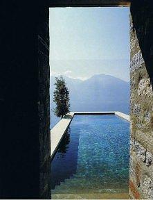basen w górach