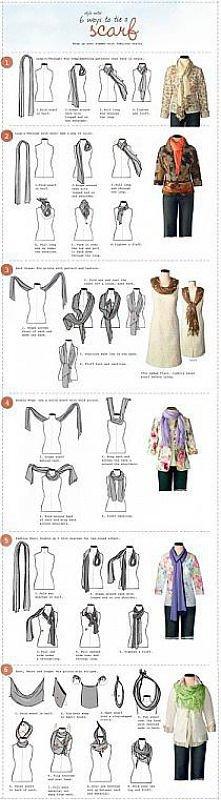pomysły - jak nosić szal