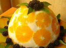 owocowy deser, tylko 35 minut w zamrażajce=)