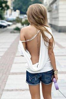 tatuaż wzdłuż kręgosłupa ♥♥