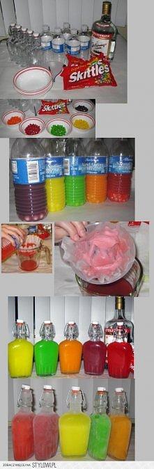 Skittlesowa wódka - POMYSŁ NA TEN WEEKEND ;-)