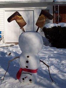 different snowmen