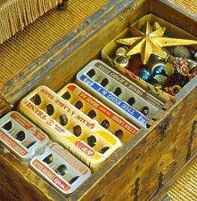 pudełka po jajkach na bombki