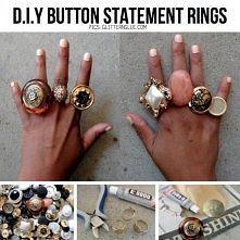 pierścionki z guzików