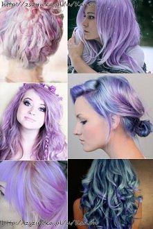 Fioletowe włosy; )